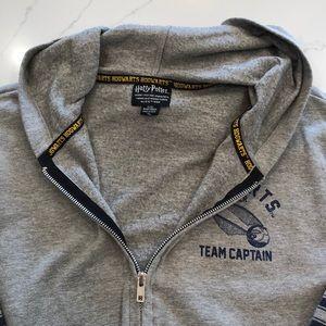 Harry Potter Hogwarts Seeker team grey zip hoodie